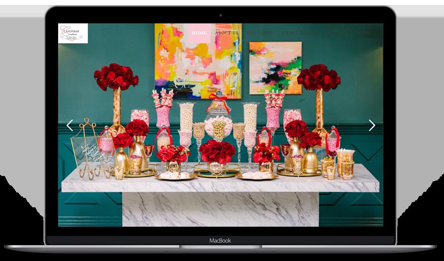 candybar couture web dsign portfolio