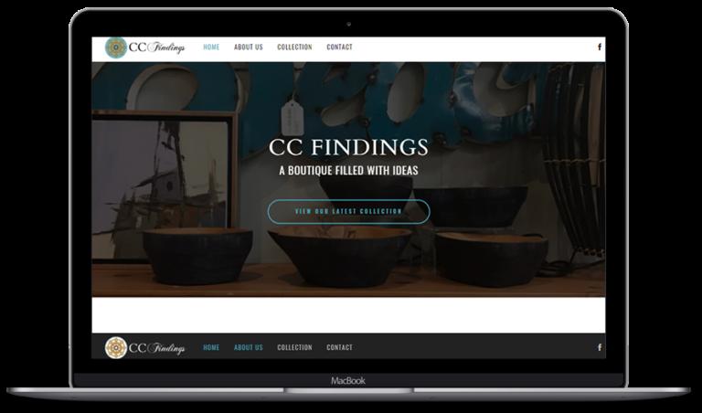 cc findings web design portfolio