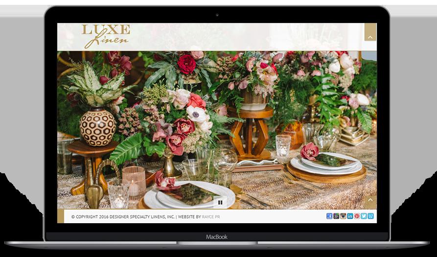 luxe linen web design portfolio