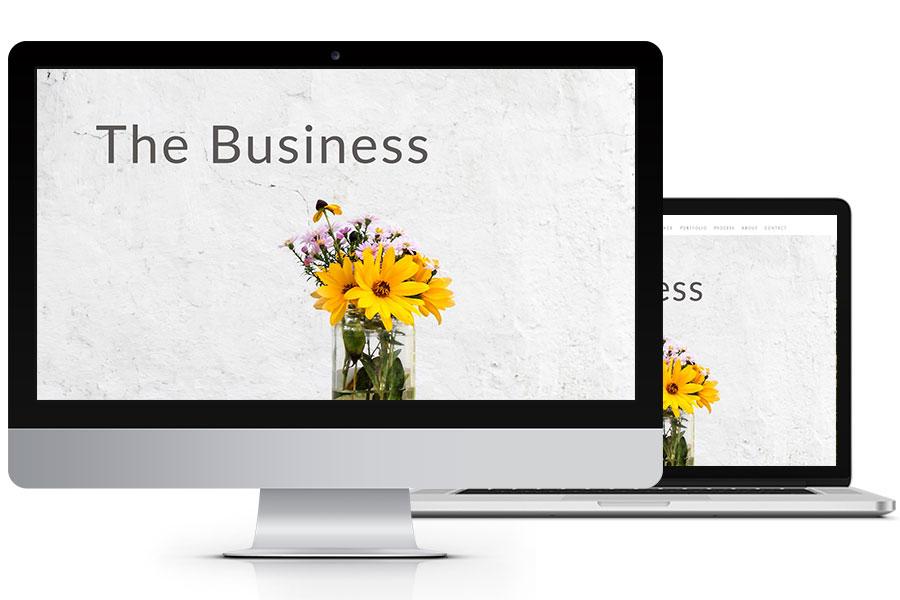 the business website design plan