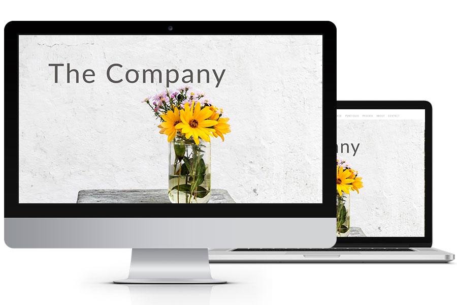 the company website design plan